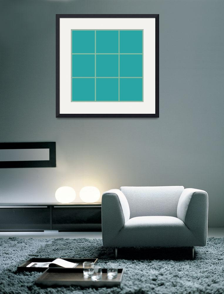 """Blue Window 100 Canvas Contemporary Modern&quot  (2010) by Ricardos"