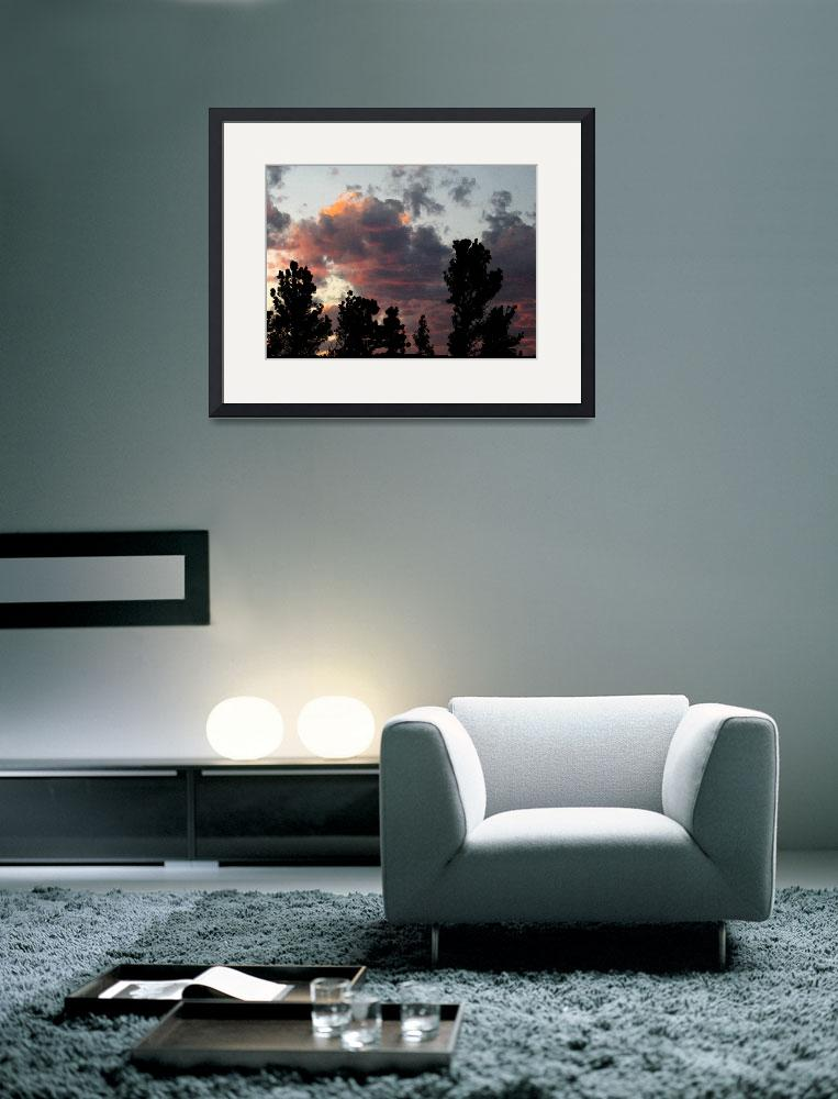 """framed-print-large-14x10-sunset&quot  by wavian"