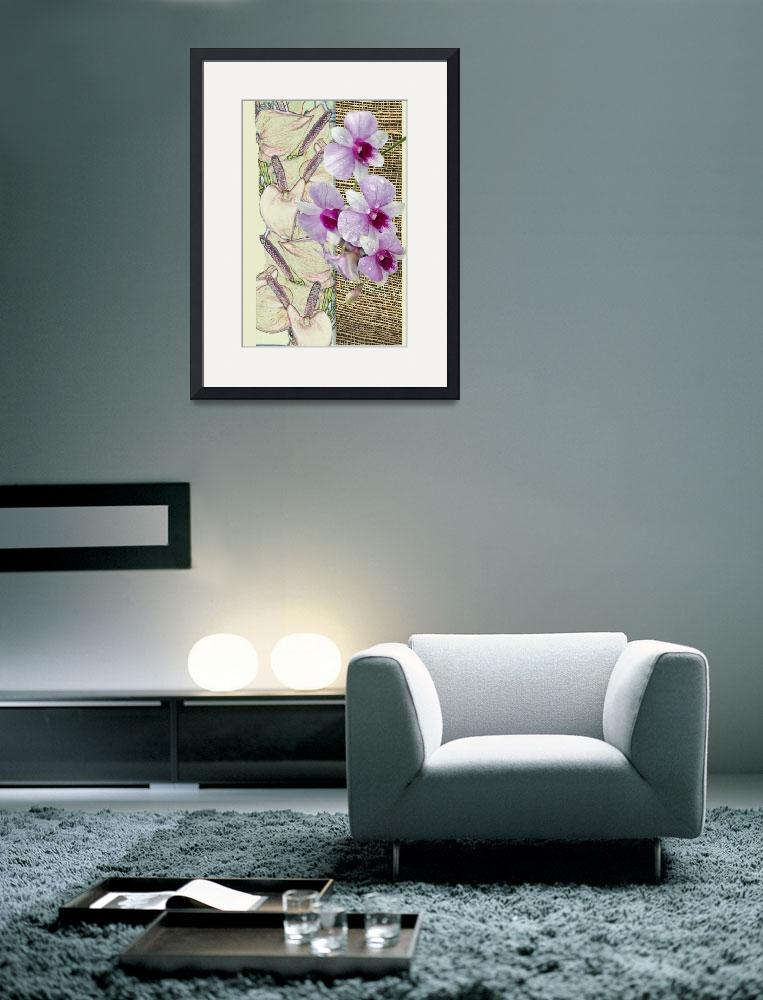 """""""Orchids on a grid&quot  (2010) by milikArt"""