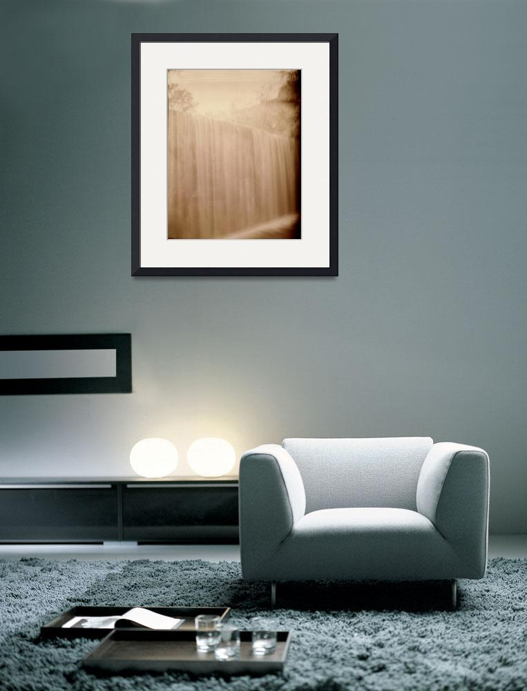 """""""Waterfall cameraless golden light painting&quot  (2010) by jnanian"""