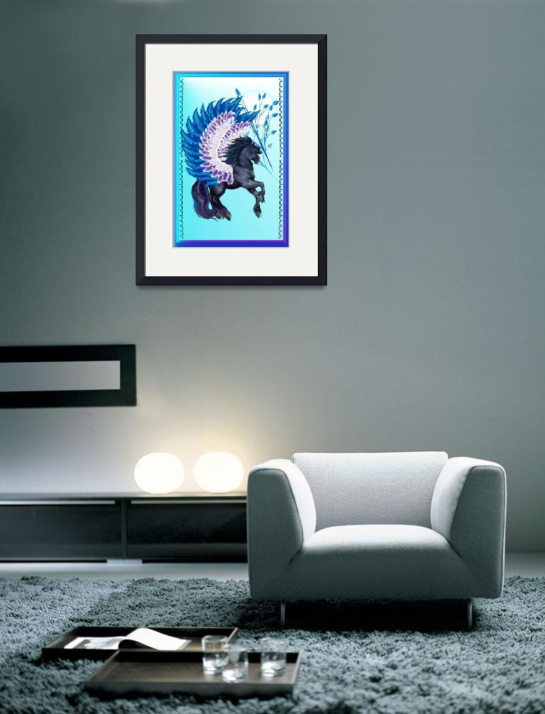 """""""Blue Winged Pegasus&quot  (2014) by Lotacats"""