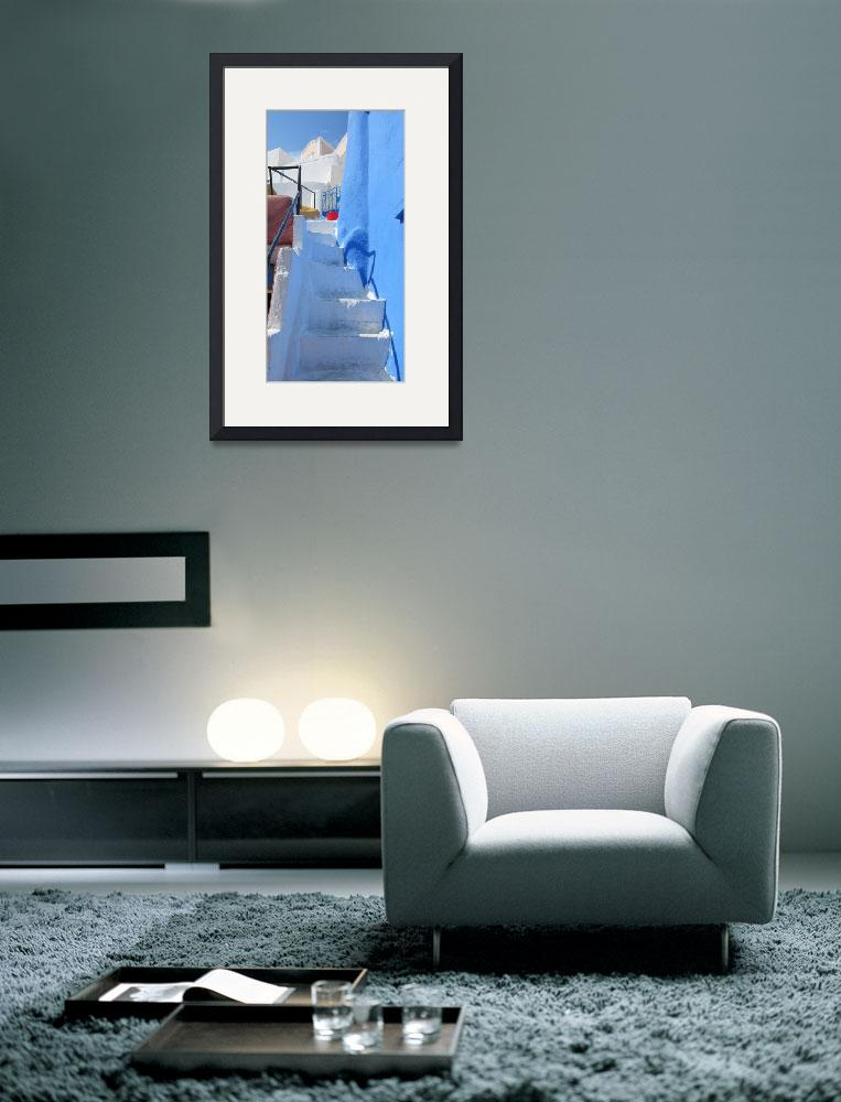 """""""Santorini Stairs&quot  (2009) by artforcancer"""