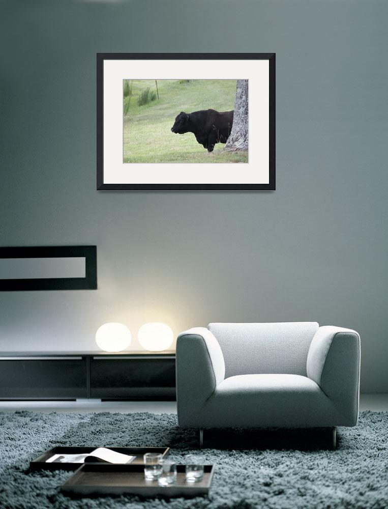 """Bull Facing Right&quot  (2011) by smokienadroj"