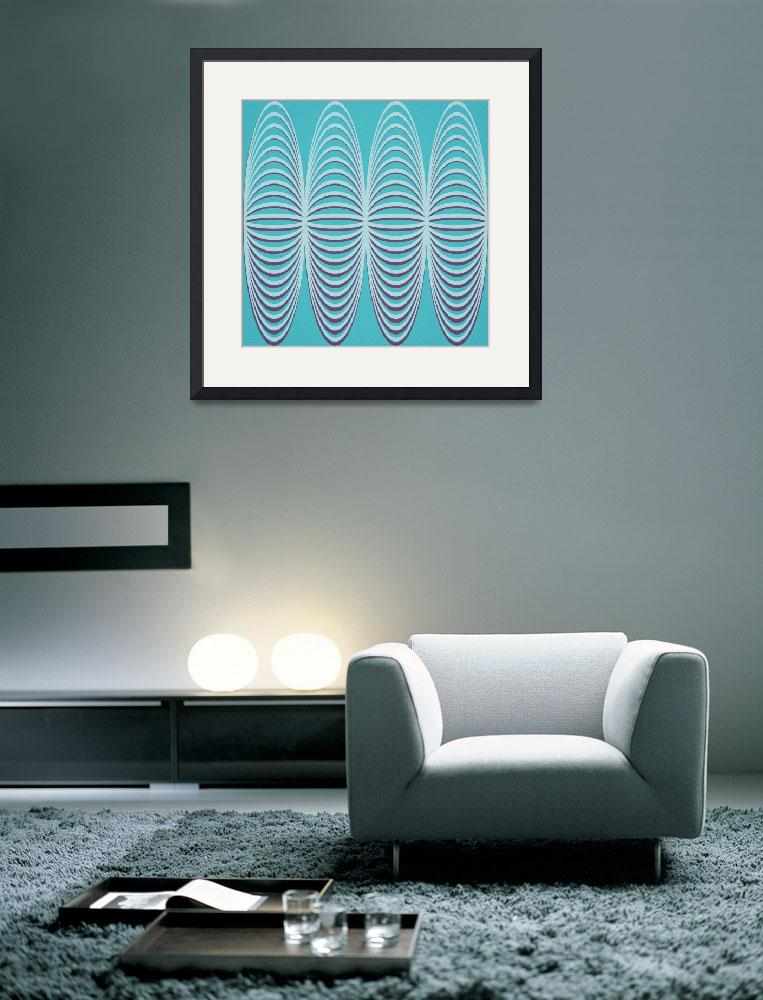 """""""Turquoise and Plum Abstract""""  (2014) by bonniebruno"""