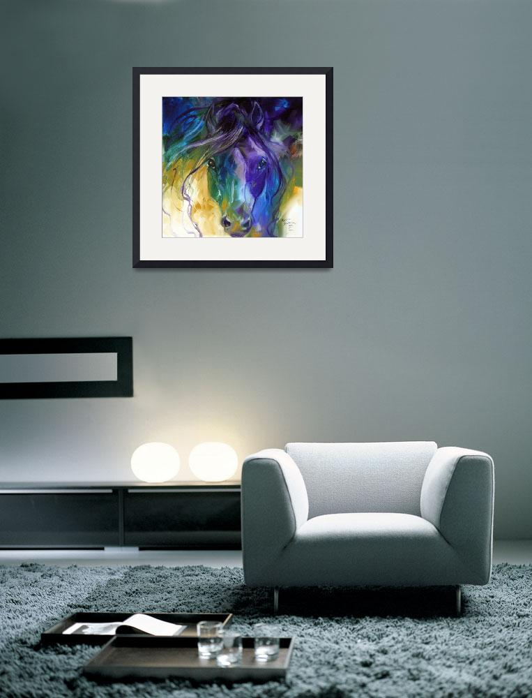 """""""ABSTRACT BLUE ROAN&quot  (2011) by MBaldwinFineArt2006"""