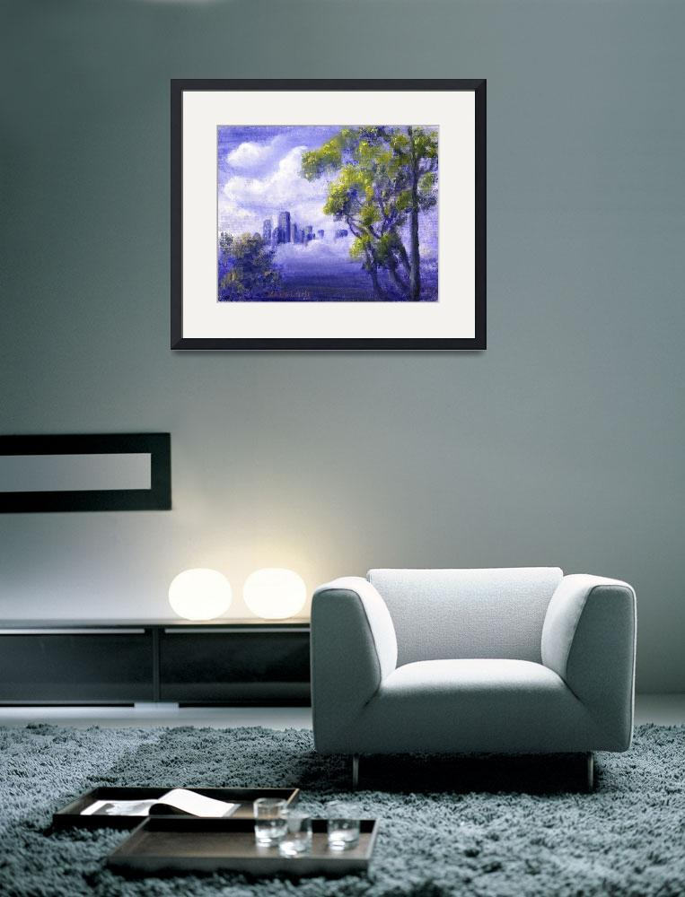 """""""Distant City in Blue&quot  (2004) by Lenora"""