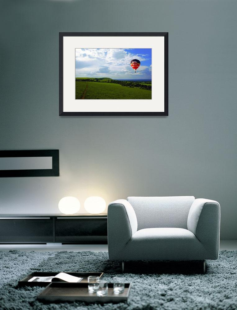 """""""A Balloon flies over Sussex Downs National Park&quot  (2010) by Paul_Rumsey"""