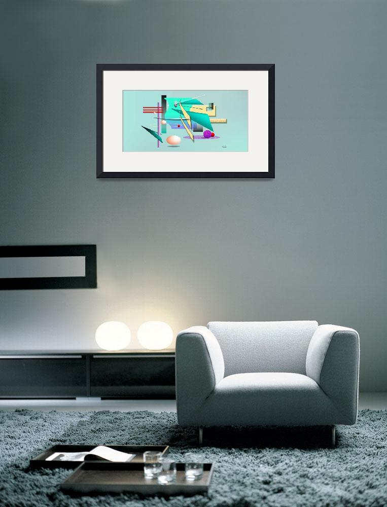 """Abstract Aqua Teal & Green Geometric""  (2004) by CherylDaniels"