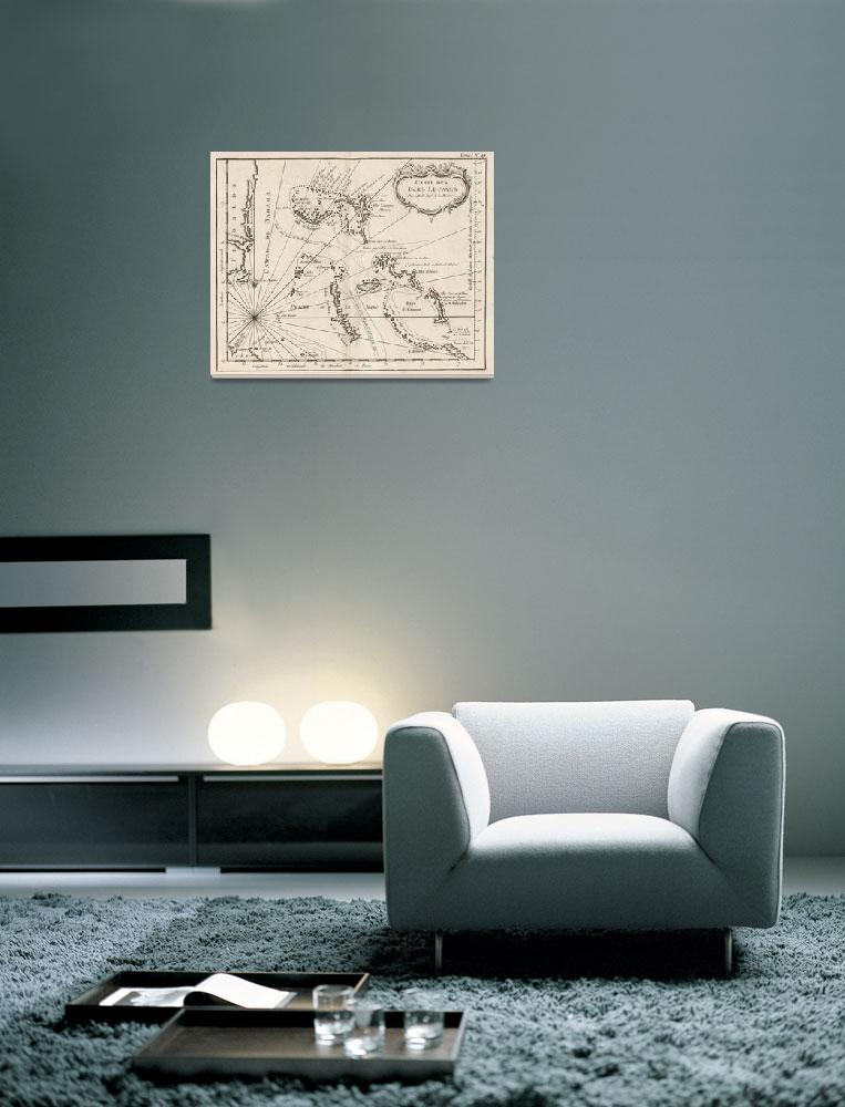 """""""Vintage Map of The Bahamas (1764)&quot  by Alleycatshirts"""