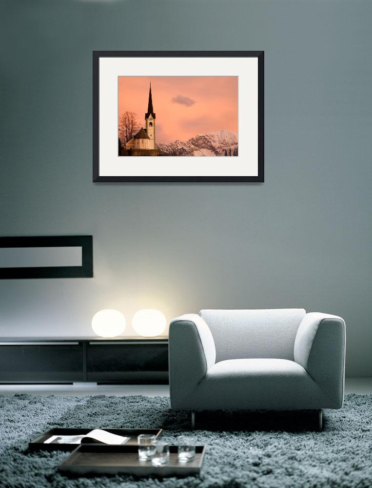 """""""Tabor church at sunrise&quot  (2012) by IanMiddletonphotography"""