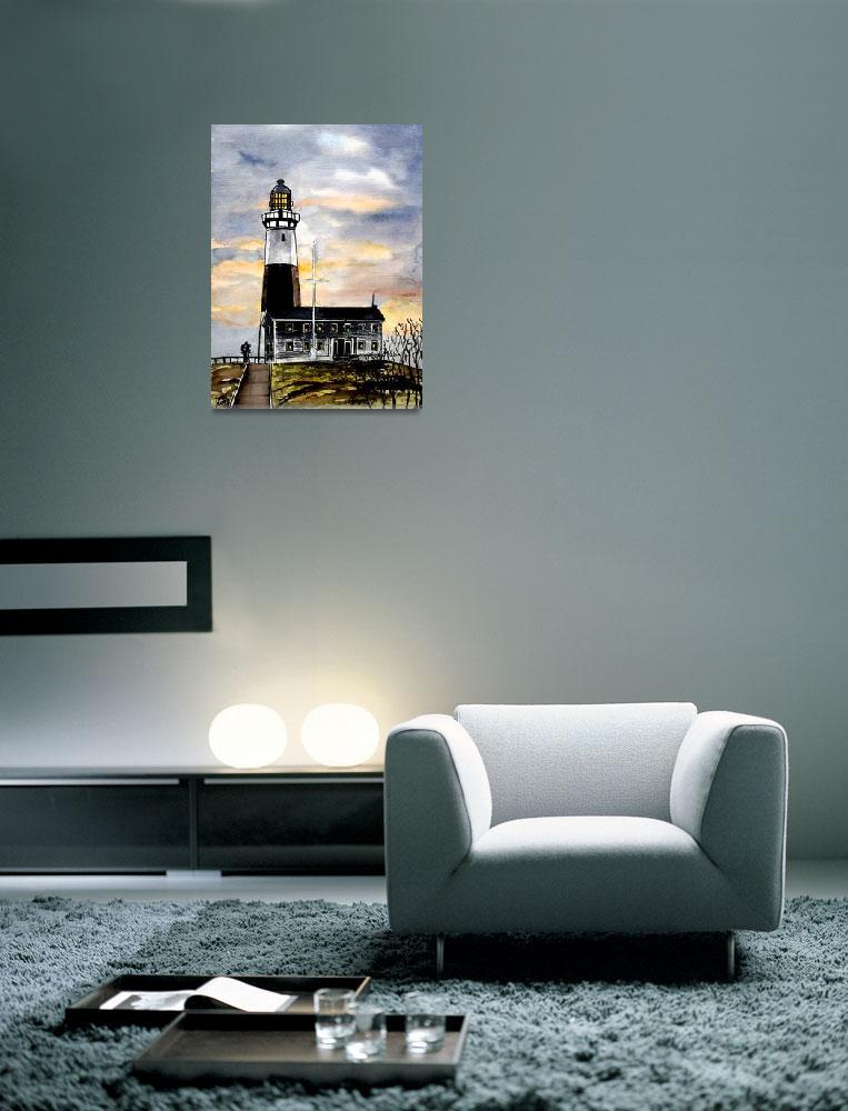 """montauk point lighthouse new york art""  (2008) by derekmccrea"