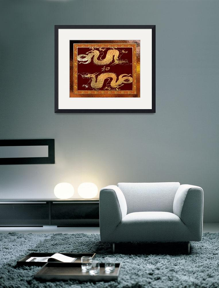 """""""Chinese Dragon Tribal Art 2&quot  by ReneeLozenGraphics"""