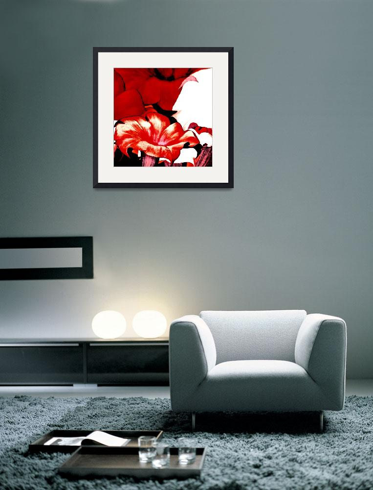 """""""POSTER FLORAL red&quot  (2010) by shanmaree"""