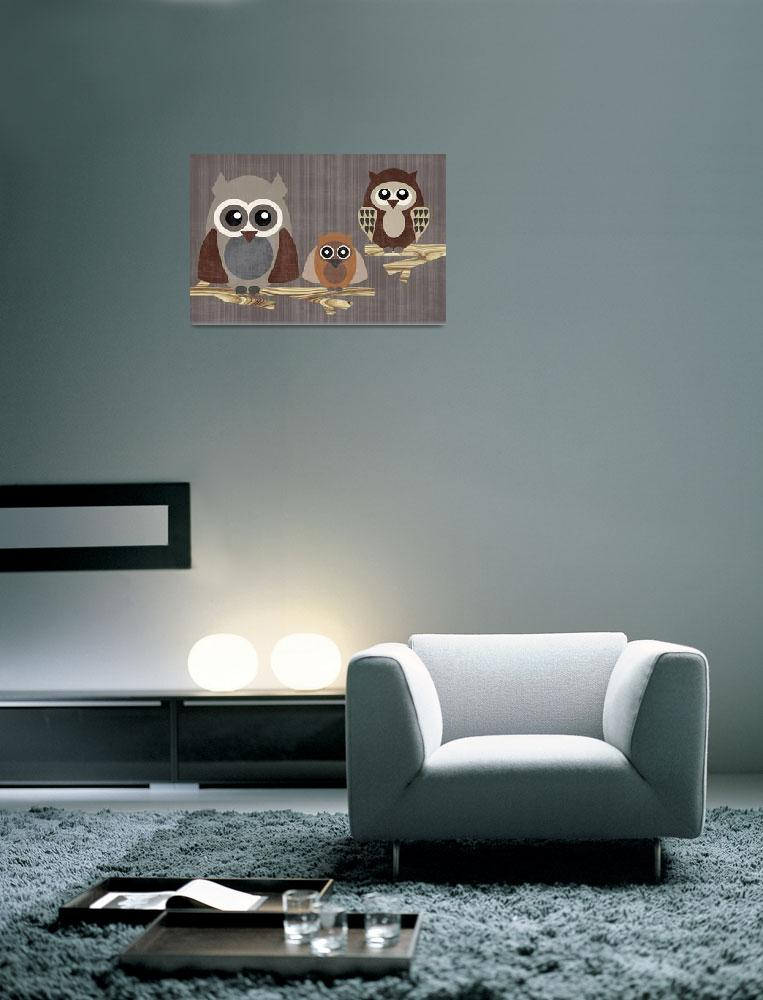"""""""Owl Family&quot  by artlicensing"""