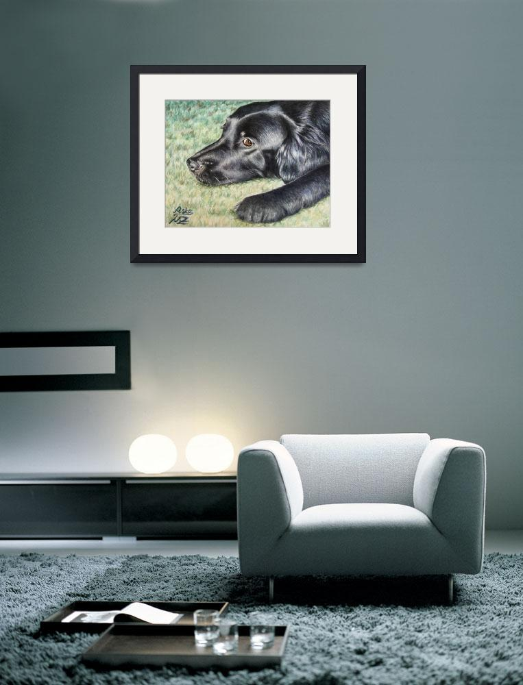 """""""Flat Coated Retriever&quot  (2007) by ArtsandDogs"""