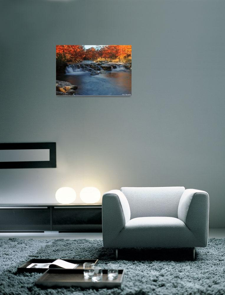 """""""Autumn on the River 1: Texas Hill Country""""  (2008) by PaulHuchton"""