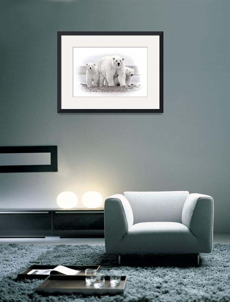 """""""Polar Bear with Cubs&quot  by swargo"""