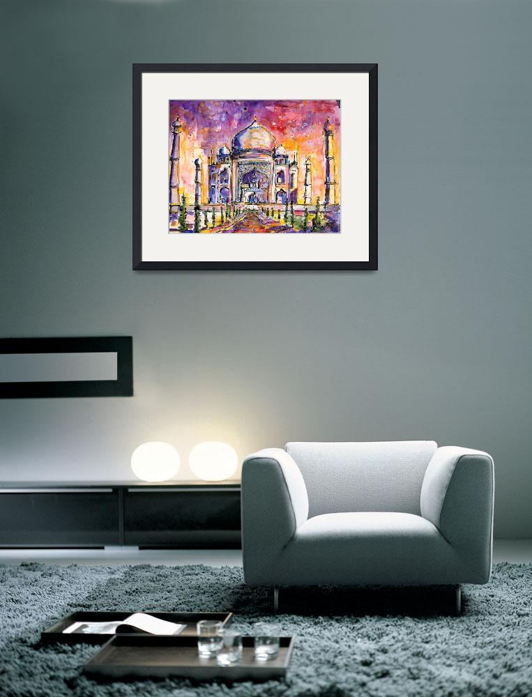 """Taj Mahal India Watercolor by Ginette Callaway&quot  (2005) by GinetteCallaway"