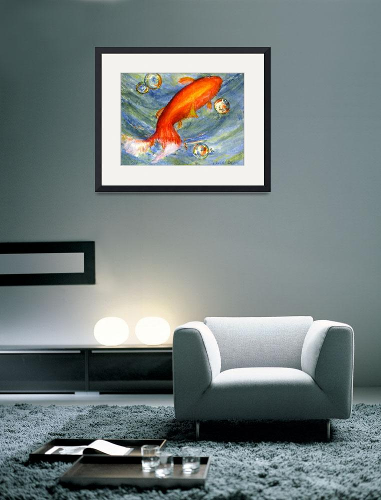 """""""Koi Fish in Bubbles&quot  (2005) by Lenora"""