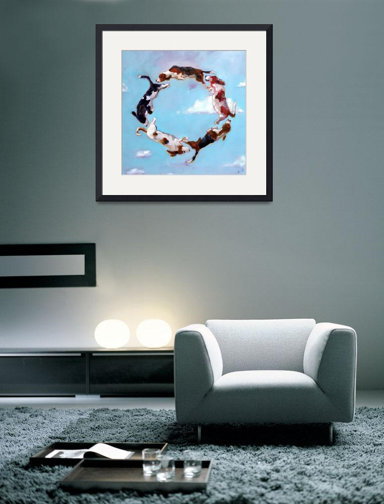 """""""Basset Ring Square&quot  (2008) by AnnTuck"""