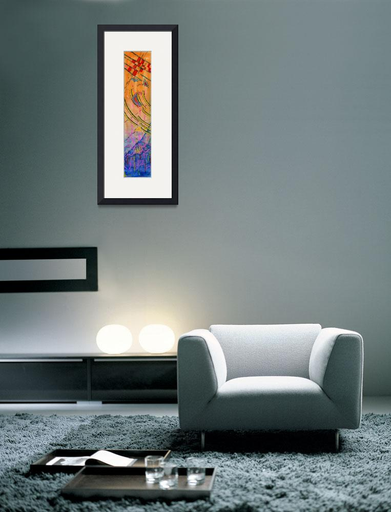 """""""Long Watercolor Abstract&quot  by Lenora"""