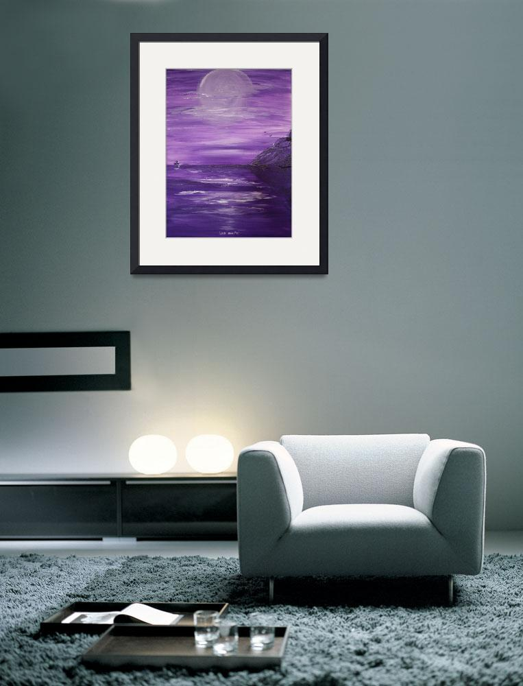 """""""Purple Shores May 2010&quot  (2010) by Lizziejart"""