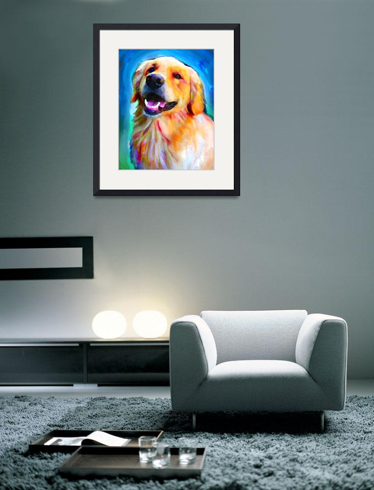 """""""Golden Retriever&quot  (2012) by LivePawsitively"""