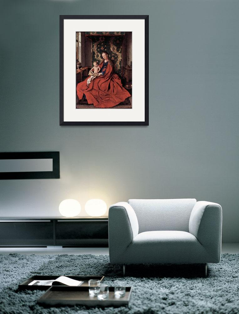 """""""Madonna and Child Reading by Jan Van Eyck&quot  by ArtLoversOnline"""