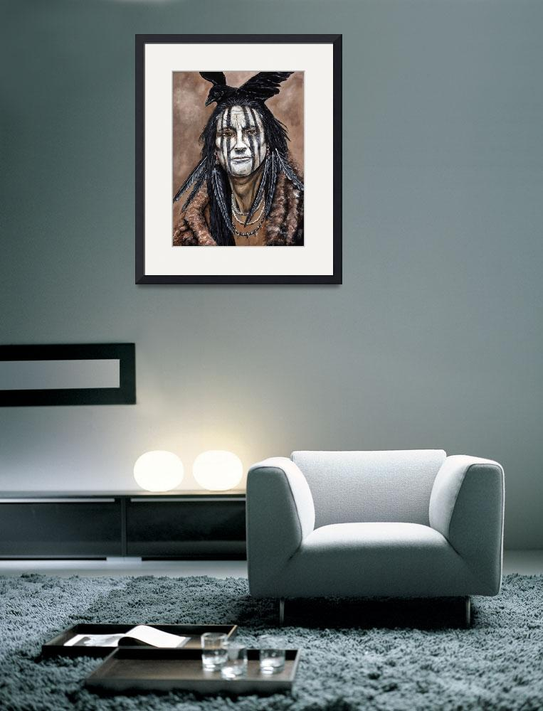 """""""Crow Warrior&quot  (2012) by artistMichaelTodd"""