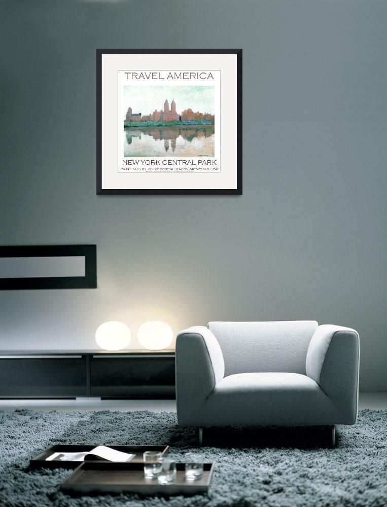 """New York Central Park poster by Riccoboni&quot  (2009) by RDRiccoboni"