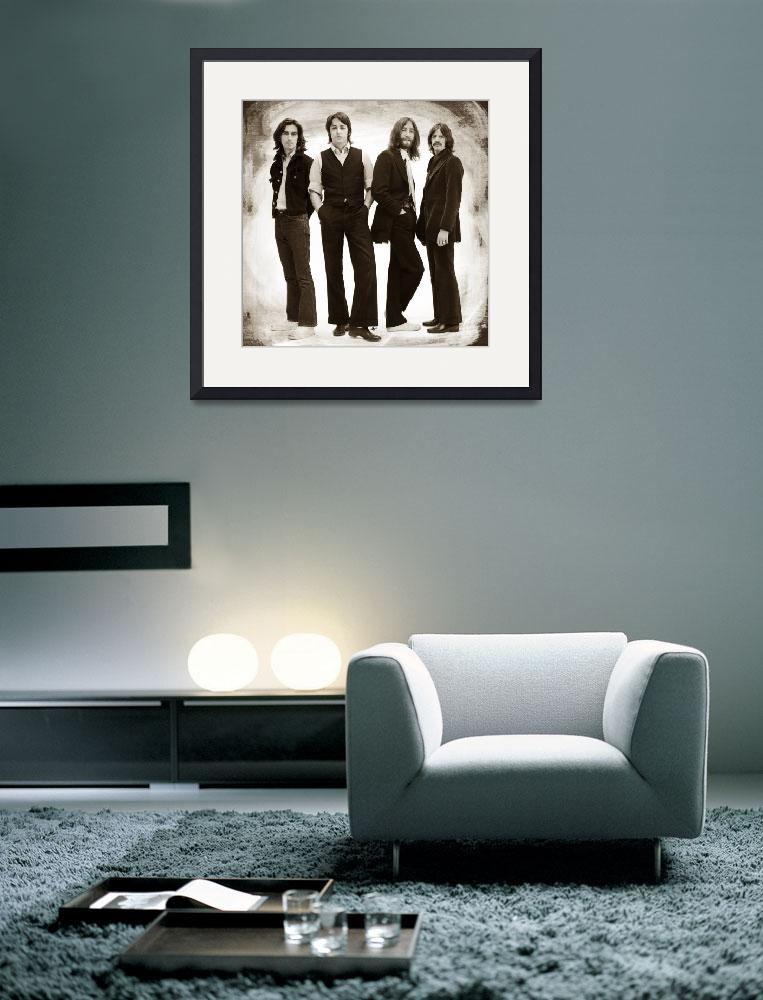 """The Beatles Painting Late 1960s Early 1970s Sepia&quot  by RubinoFineArt"
