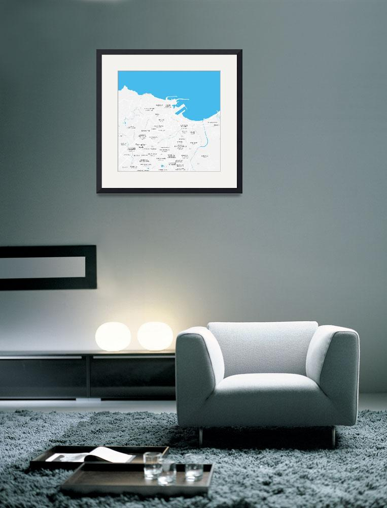 """""""Minimalist Artistic Map of Tangier, Morocco""""  by motionage"""