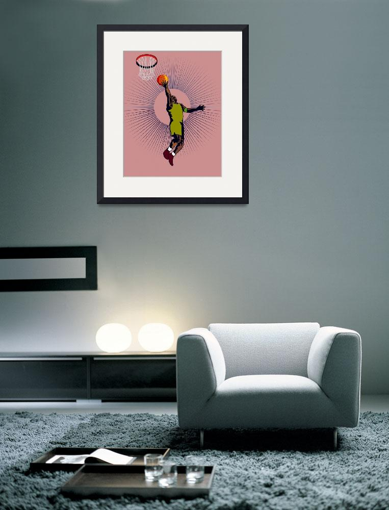 """""""Basketball Player Dunking&quot  (2013) by patrimonio"""