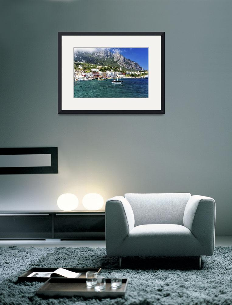 """Scenic View of Marina Grande, Capri, Italy&quot  (2012) by George_Oze"