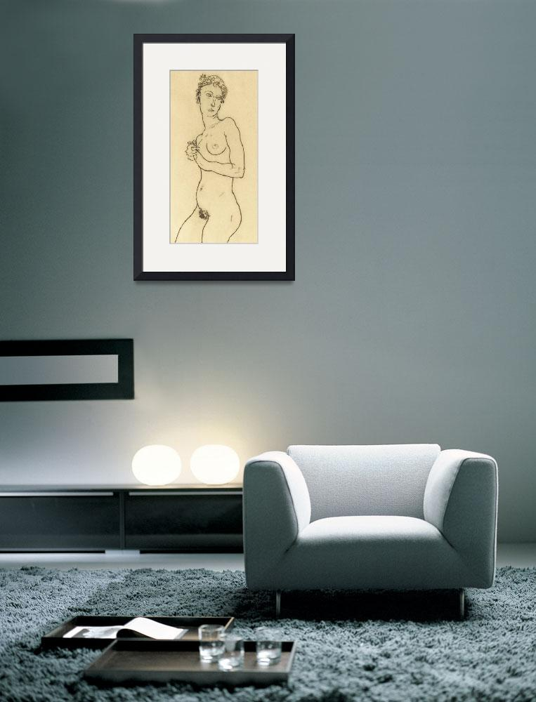 """""""Standing nude&quot  by fineartmasters"""