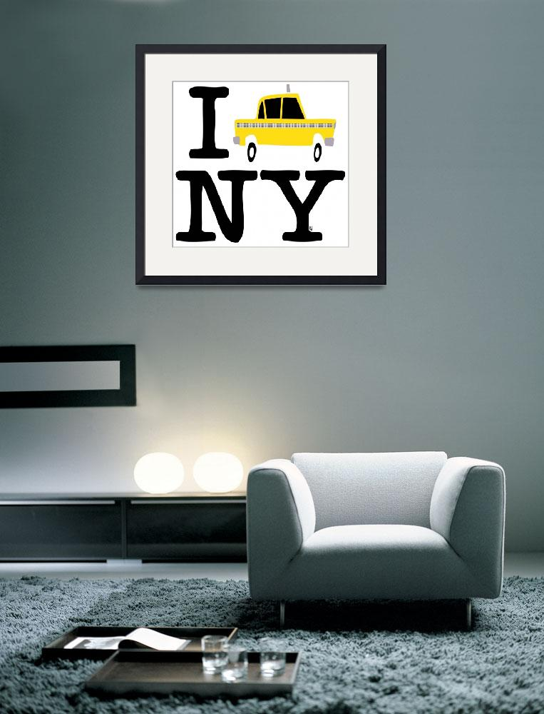 """new york yellow cab logo&quot  (2011) by marcelobadari"