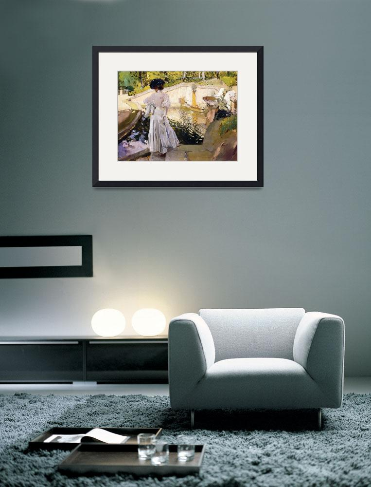 """""""Maria looking at the Fishes, Granja&quot  by fineartmasters"""