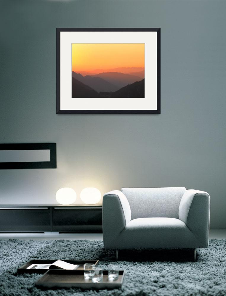 """""""mountain sunset10&quot  by amira"""