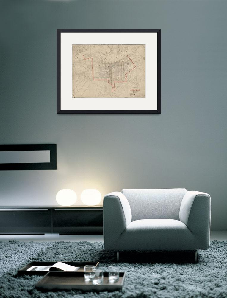 """""""Vintage Map of Louisville KY (1880)""""  by Alleycatshirts"""