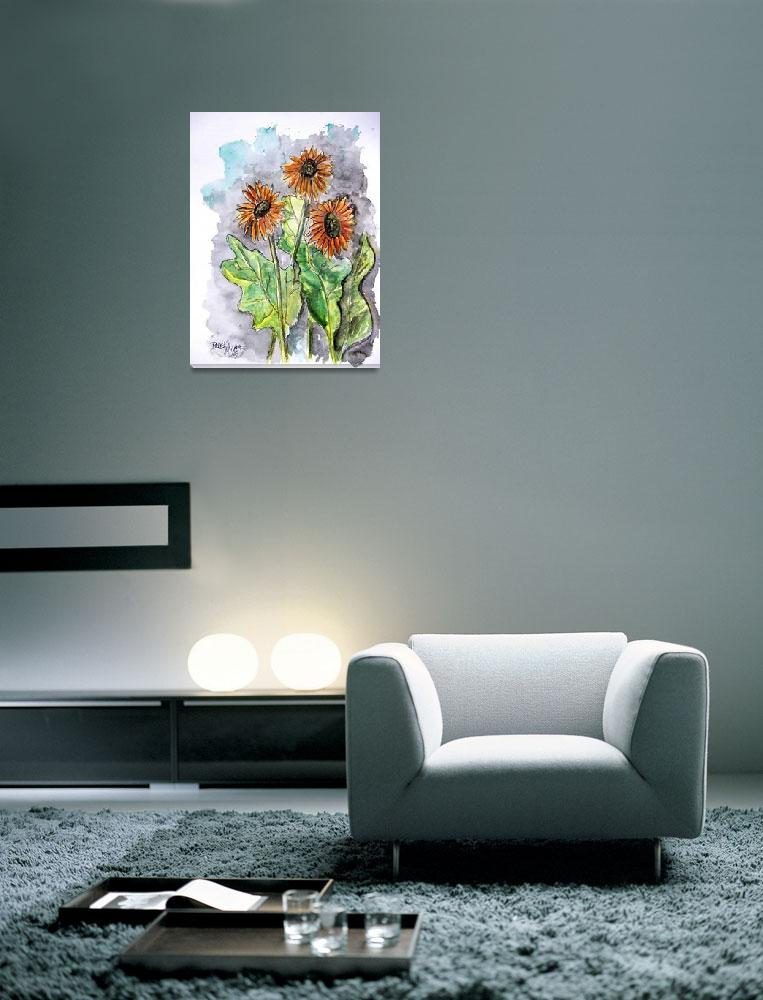 """african daisy painting&quot  (2008) by derekmccrea"