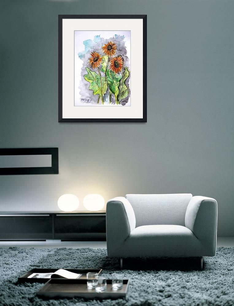 """""""african daisy painting&quot  (2008) by derekmccrea"""