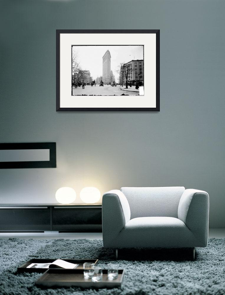 """""""Vintage Photograph of The NYC Flat Iron Building&quot  by Alleycatshirts"""