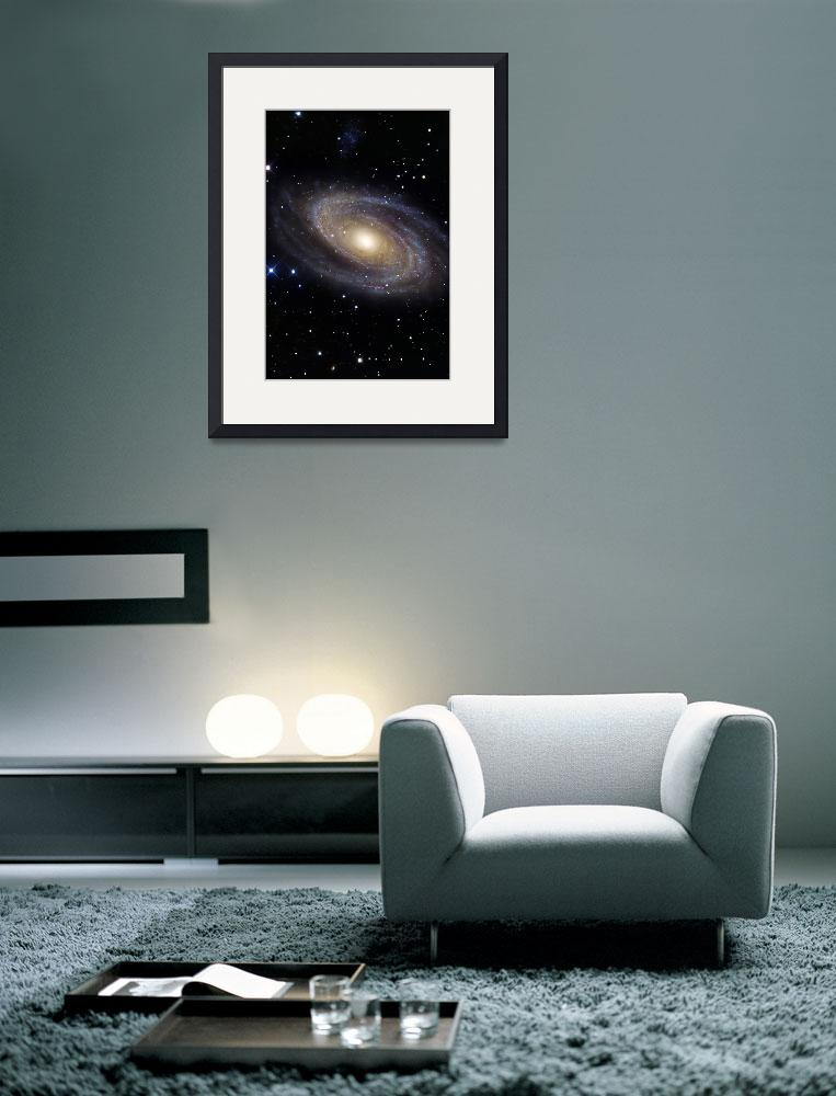 """Messier 81 a spiral galaxy in the constellation Ur&quot  by stocktrekimages"