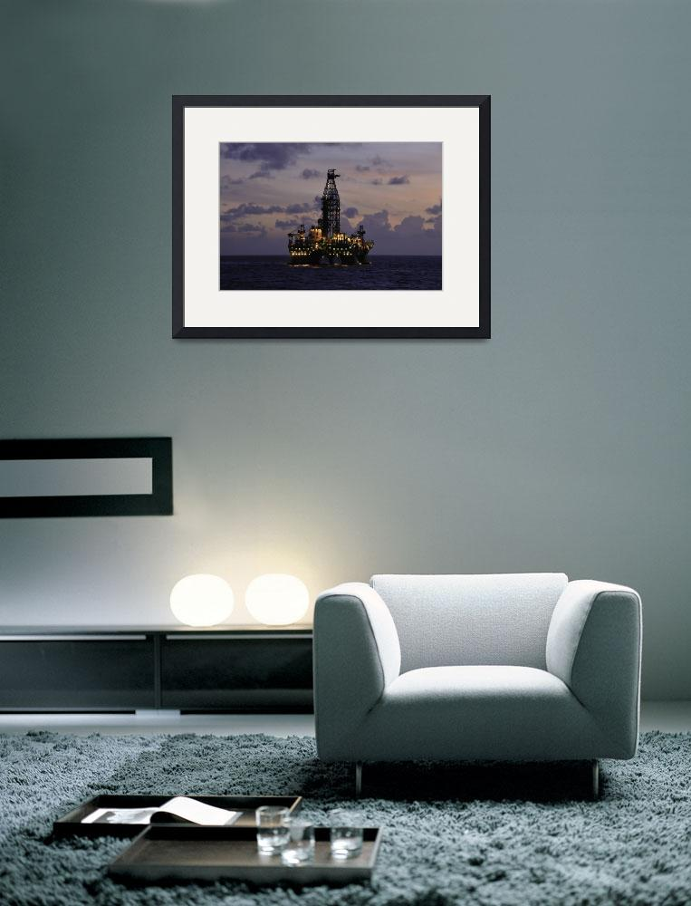 """Offshore oil rig with""  (2009) by Landbysea"