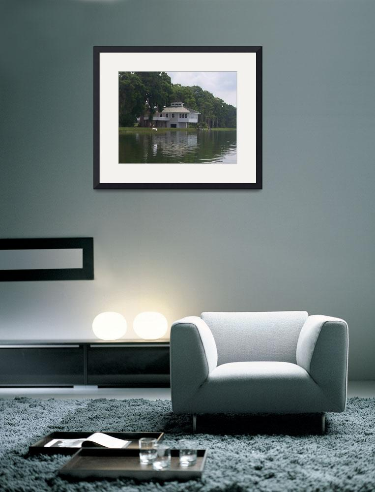 """""""House on the River&quot  (2005) by pharrisart"""