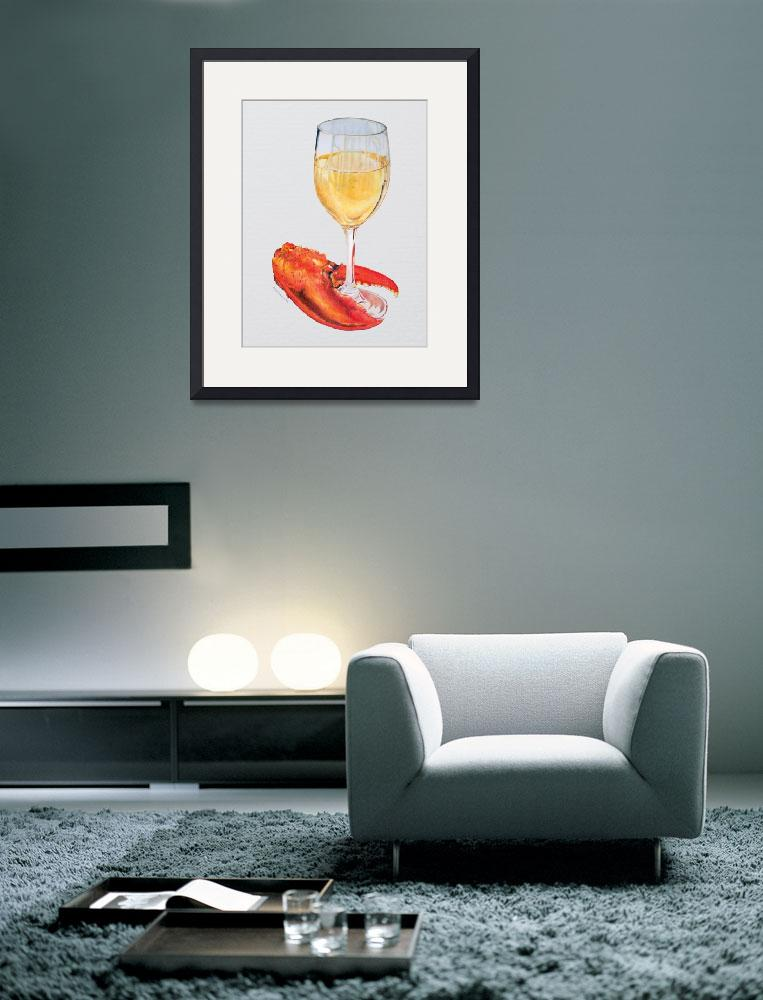 """""""Lobster Claw and Wine&quot  (2012) by dominicwhite"""