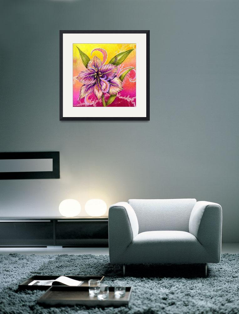 """""""The Paisley Amaryllis&quot  (2009) by AlmaLee"""