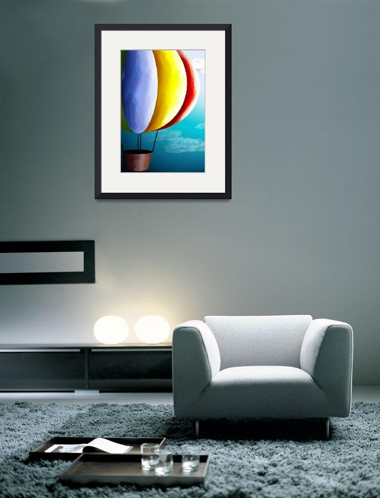 """Air balloon in different colours&quot  (2010) by digitalpainting"