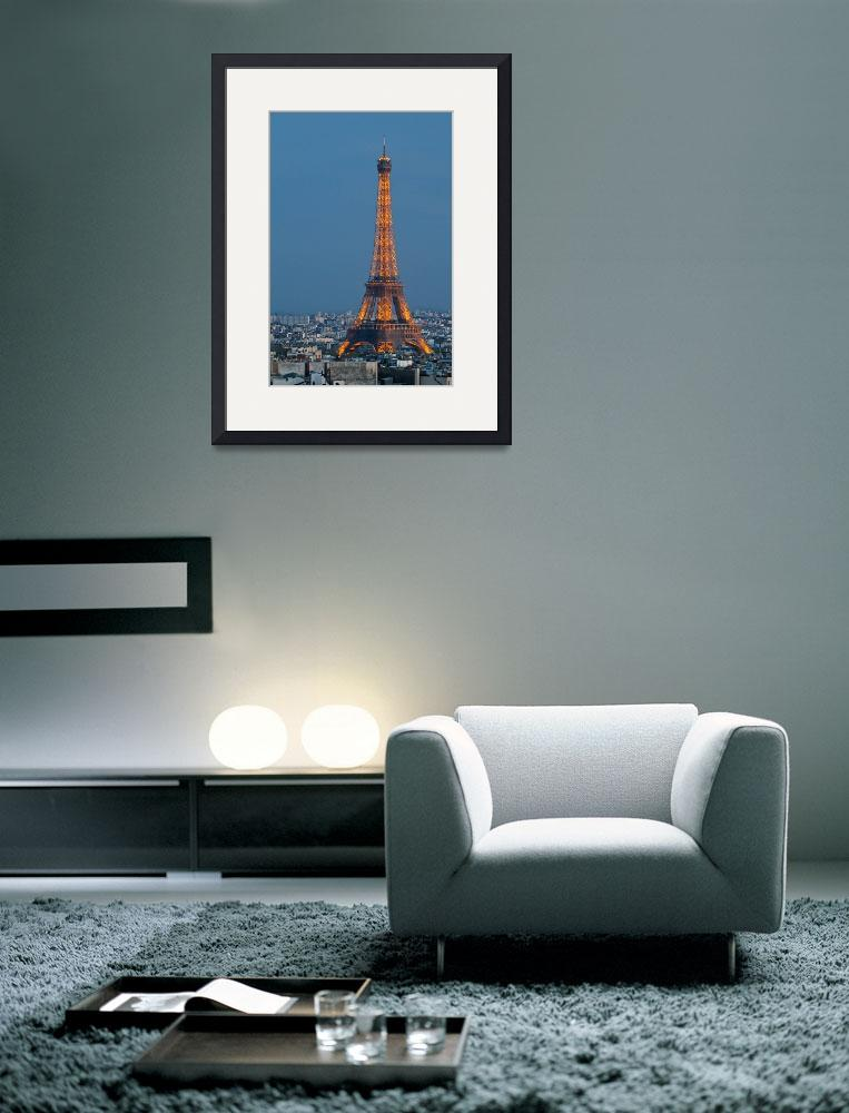 """""""Eiffel Tower at Dusk""""  (2010) by KWphotog"""