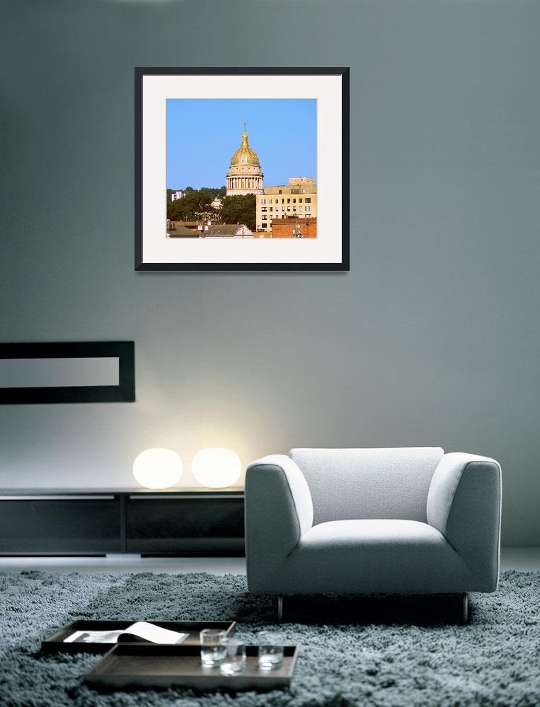 """""""Charleston, WV Capital Dome and Buildings&quot  by Artsart"""